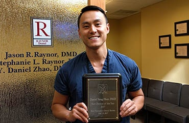 Raynor Dental team member Dr. Daniel Zhao